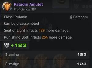 Skyforge Paladin Amulet