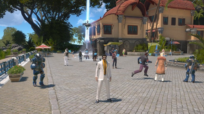 Skyforge paladin in white suit